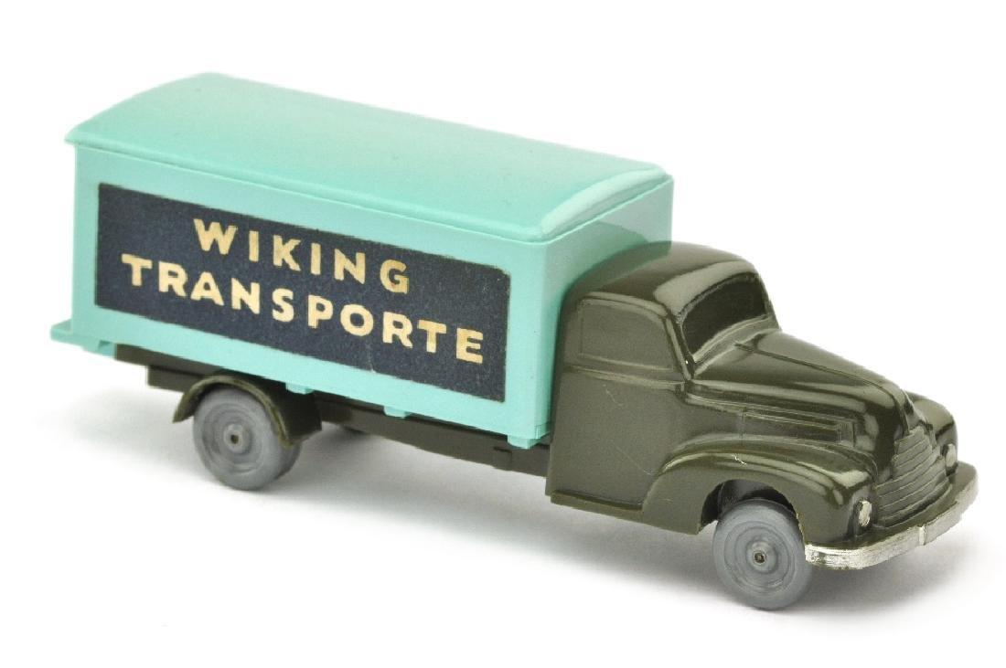 Koffer-LKW Ford, olivgruen/tuerkis