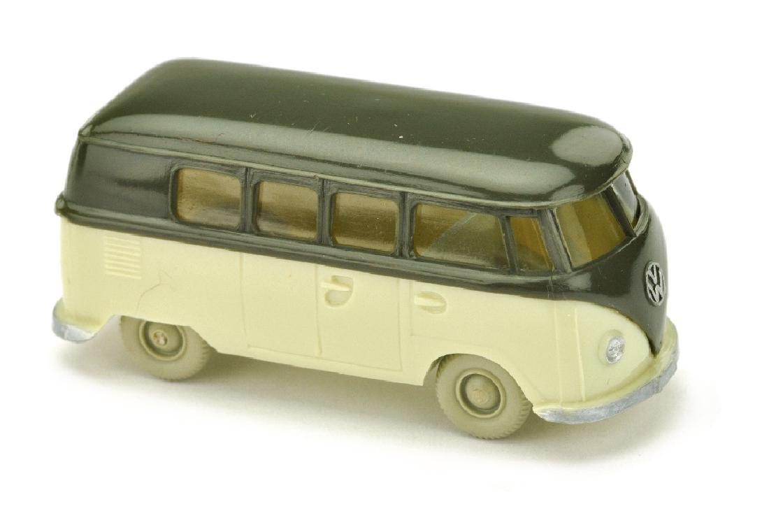 VW T1 Bus (alt), olivgruen/hellgruenbeige