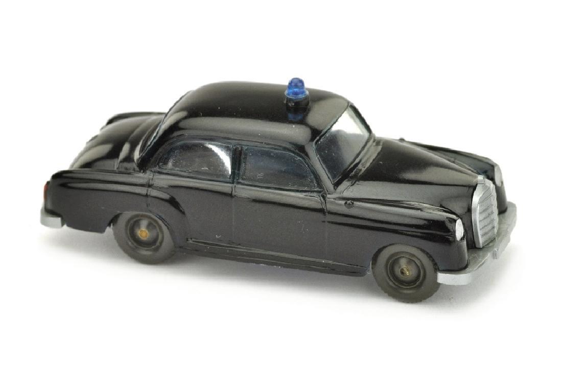 Polizeiwagen MB 180, schwarz (mit Sockel)