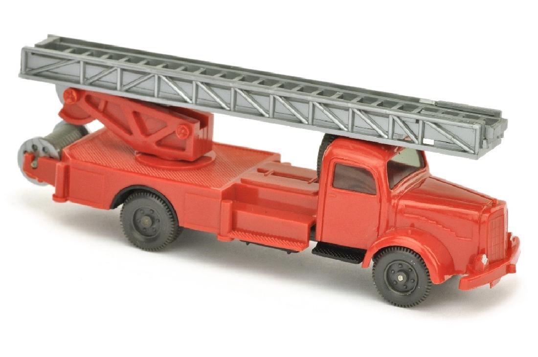 Leiterwagen MB 5000, rot/schwarz (ein Blaulicht)