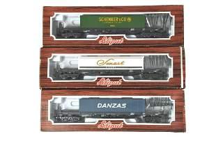 Konvolut 3 LiliputWaggons mit Containern