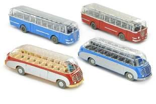 Konvolut 4 Omnibusse der 60er Jahre