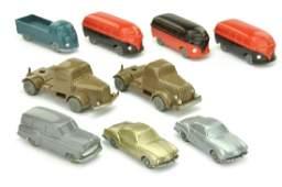 Konvolut 9 unverglaste Modelle