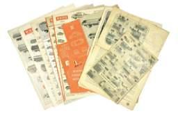 Konvolut 13 Preislisten 1955 bis 1972