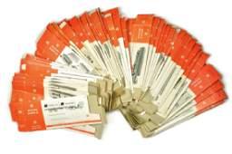 Konvolut 54 leere Originalkartons der 70er Jahre
