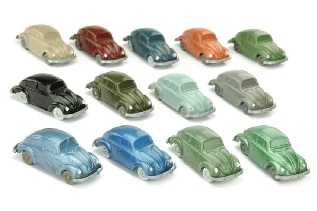 Konvolut 13 unverglaste VW Kaefer (kleine HS)