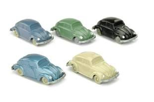Konvolut 5 unverglaste VW Kaefer grosse HS