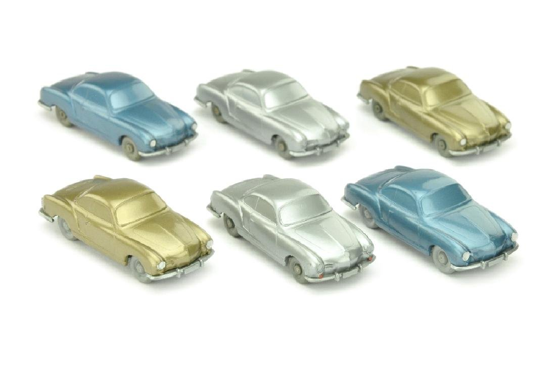 Konvolut 6 unverglaste VW Karmann Ghia