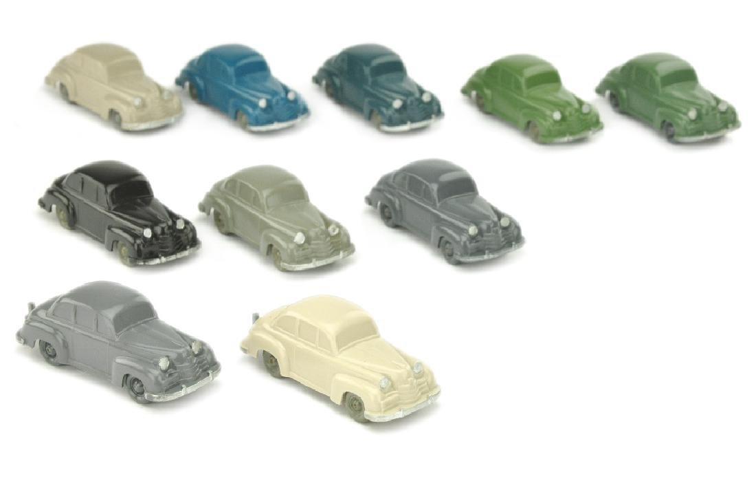 Konvolut 10 unverglaste Opel Olympia (Typ 2)