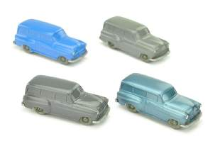 Konvolut 4 unverglaste Opel OlymRekord Caravan