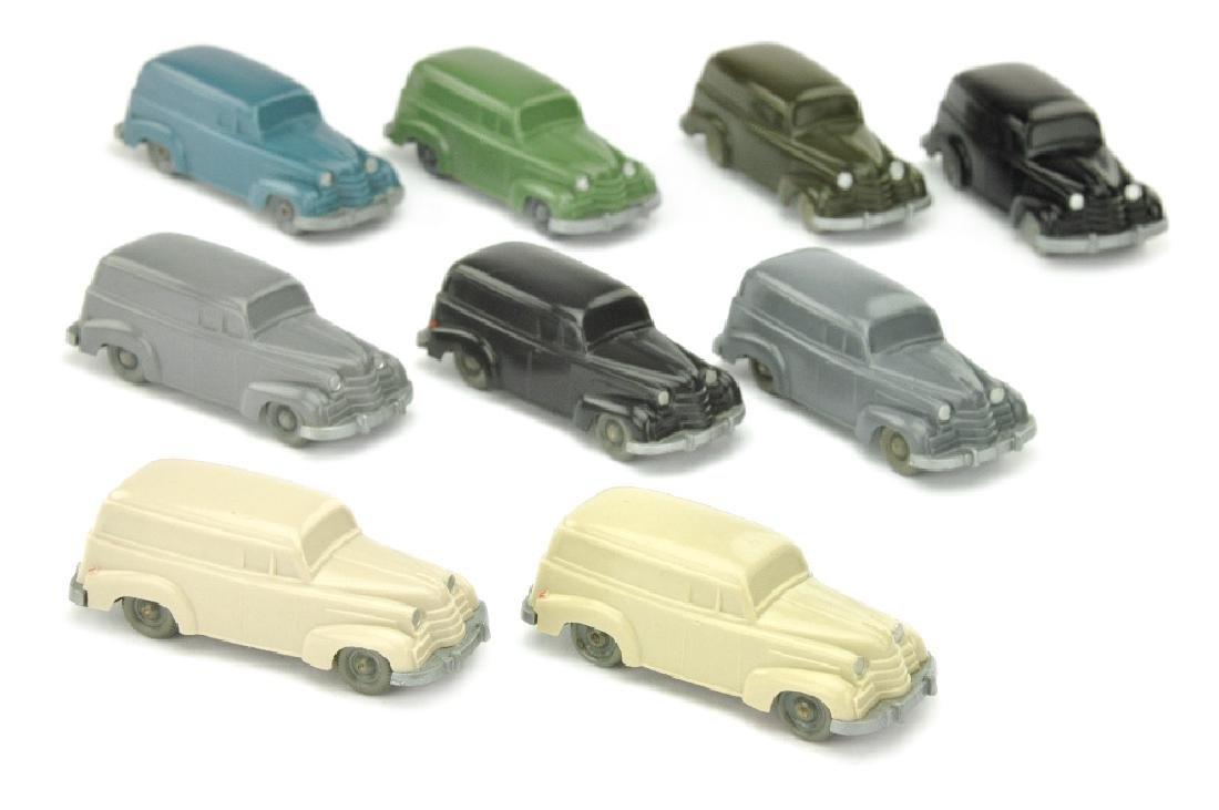 Konvolut 9 unverglaste Opel Olympia Lieferwagen