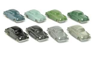 Konvolut 8 unverglaste Mercedes 180
