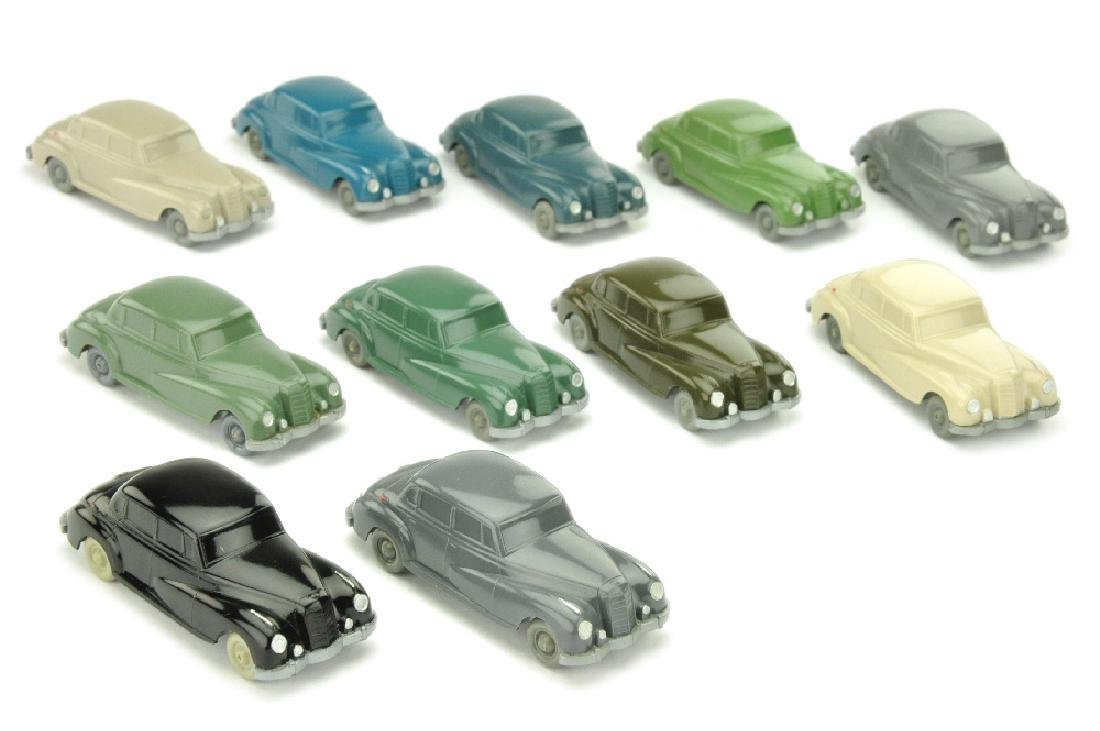 Konvolut 11 unverglaste Mercedes 300