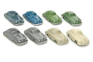 Konvolut 8 unverglaste Porsche 356 (Typ 2)