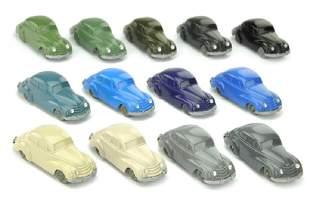 Konvolut 13 unverglaste DKW Limousinen