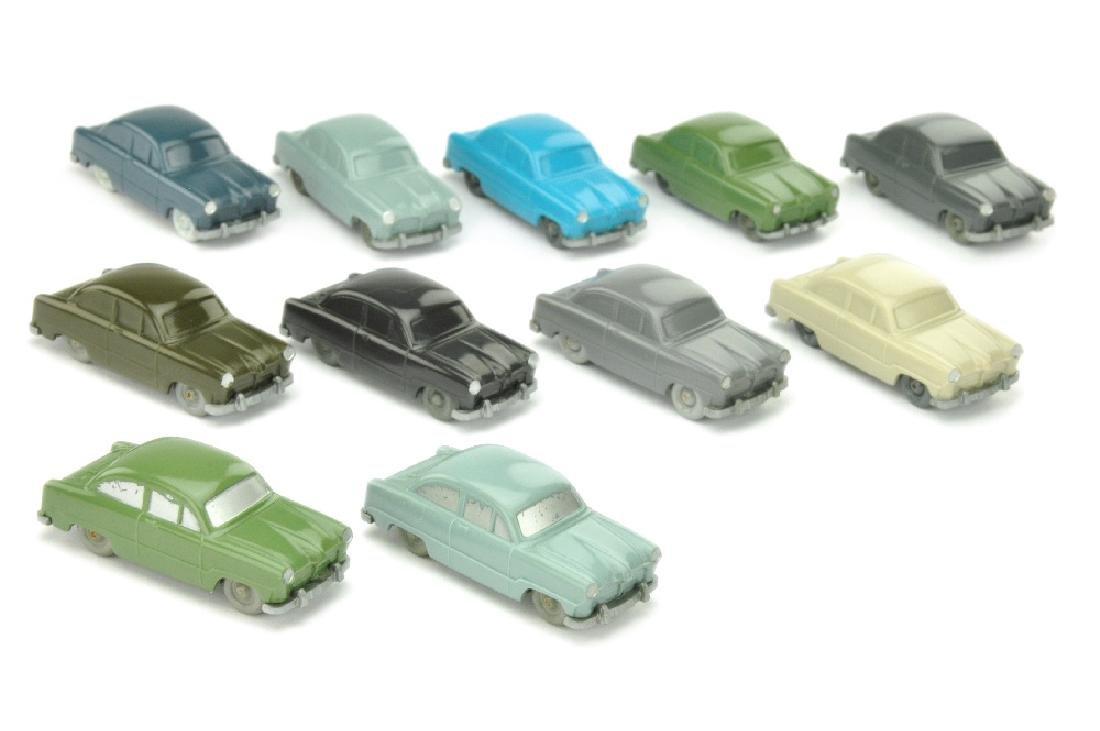 Konvolut 11 unverglaste Ford Weltkugel