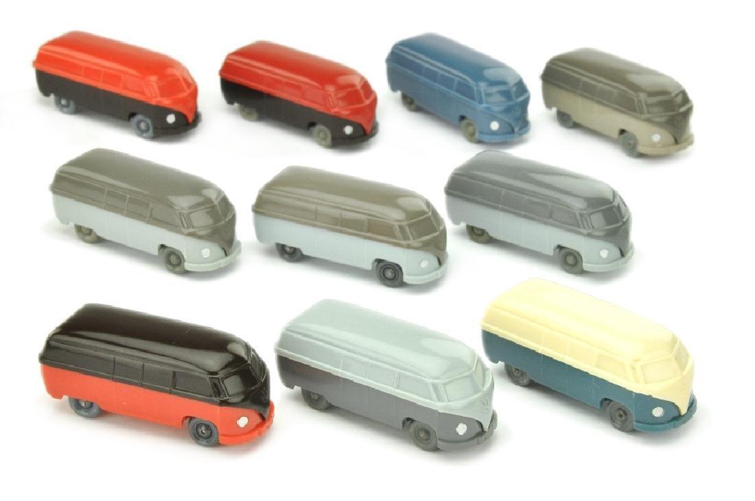 Konvolut 10 unverglaste VW Kasten (Typ 3)
