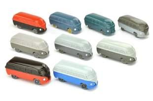 Konvolut 9 unverglaste VW Busse Typ 3