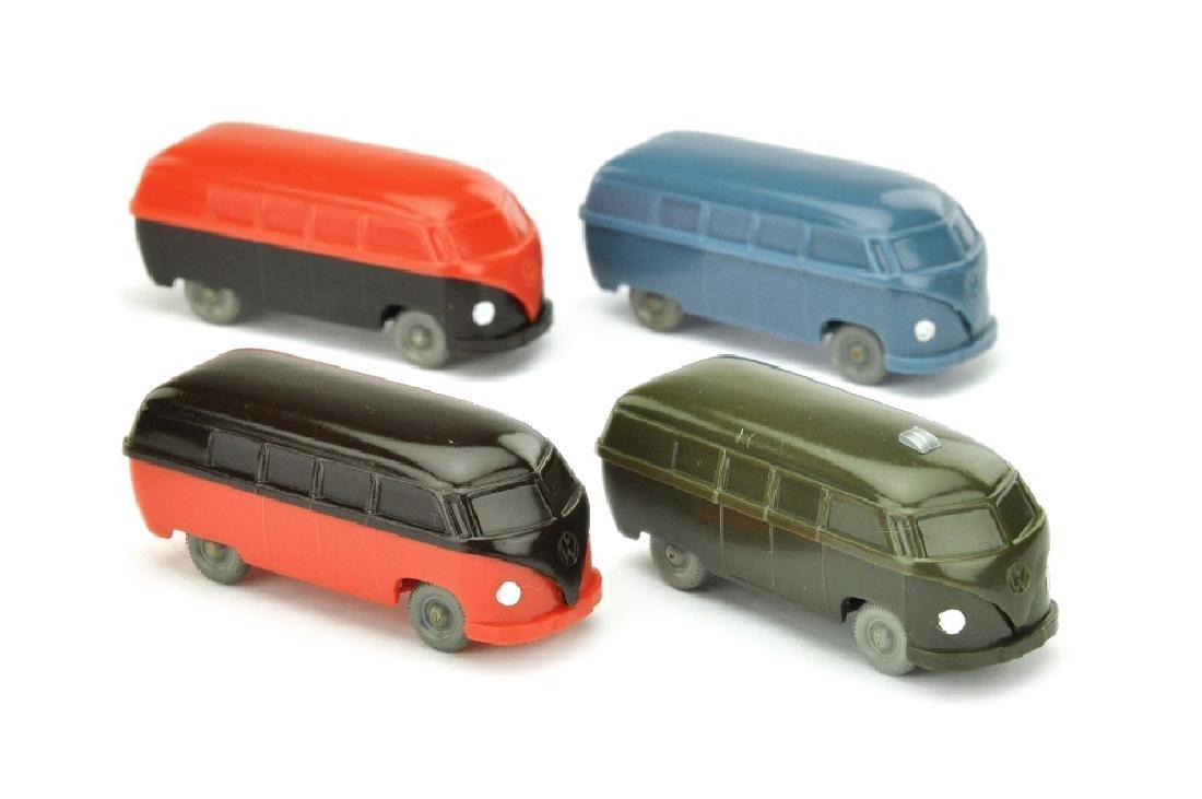 Konvolut 4 unverglaste VW Busse (Typ 3)