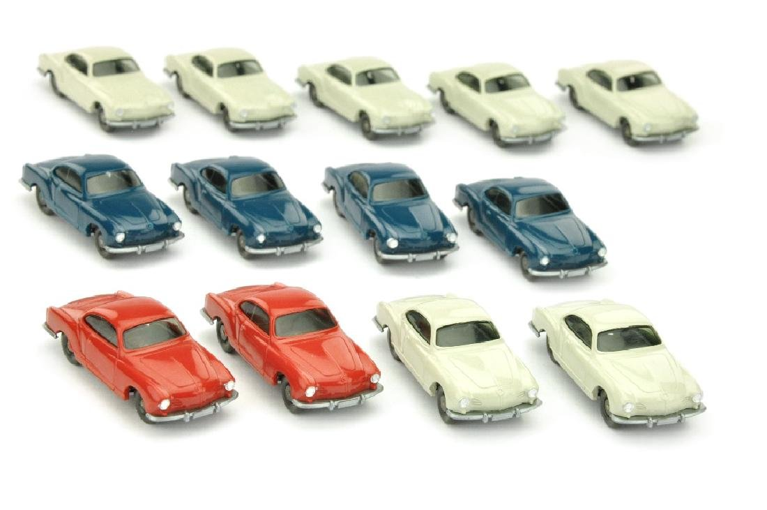 Konvolut 13 VW Karmann Ghia der 70er Jahre