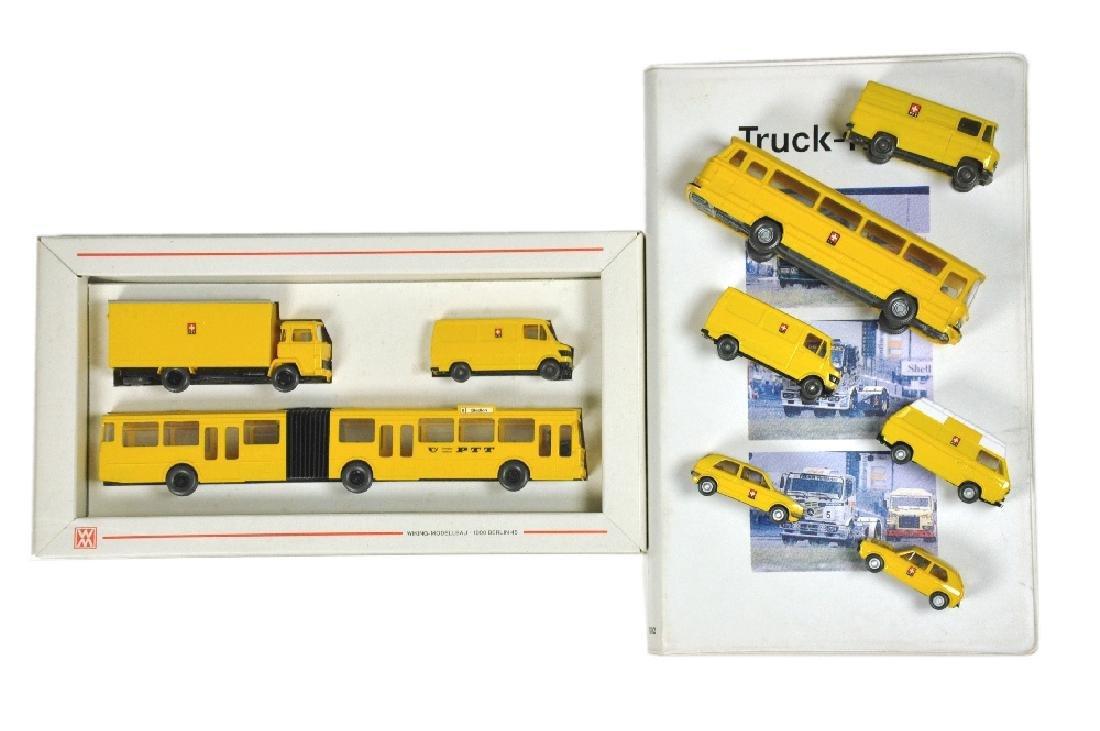 Konvolut 6+2 PTT-Fahrzeuge der 80er Jahre