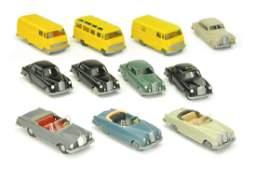 Konvolut 11 MercedesPKW der 60er Jahre