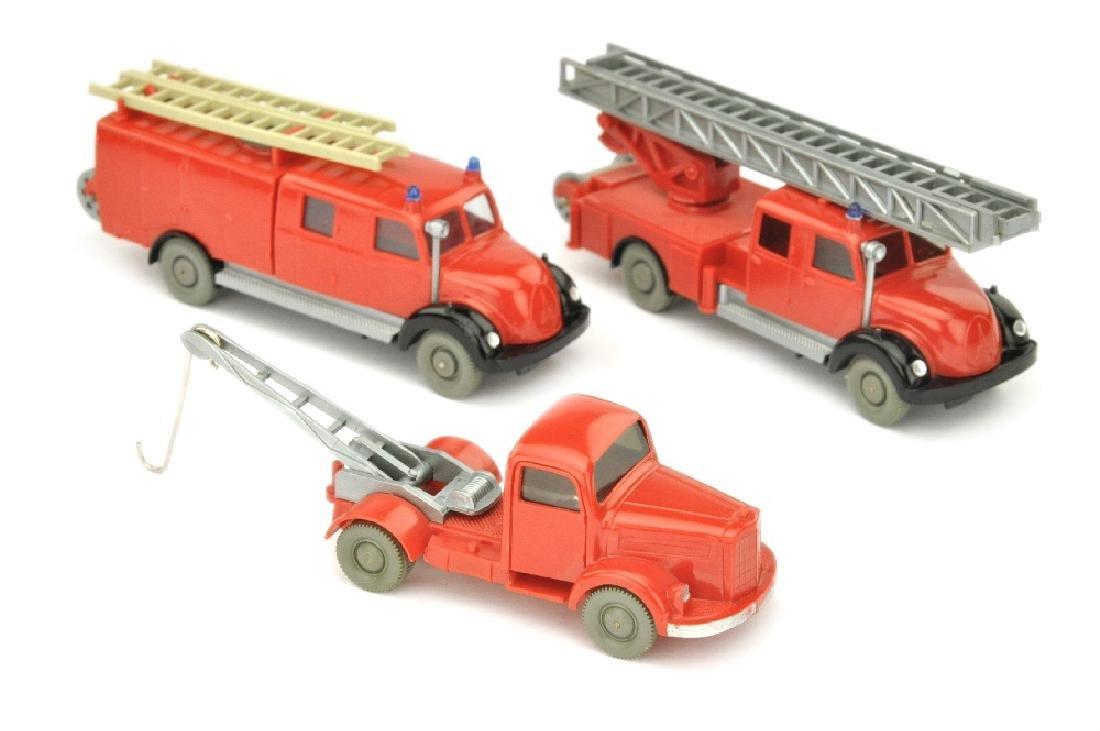 Konvolut 3 Feuerwehren der 60er Jahre