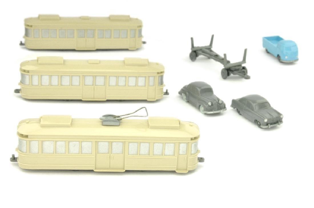 Konvolut 7 unverglaste Modelle