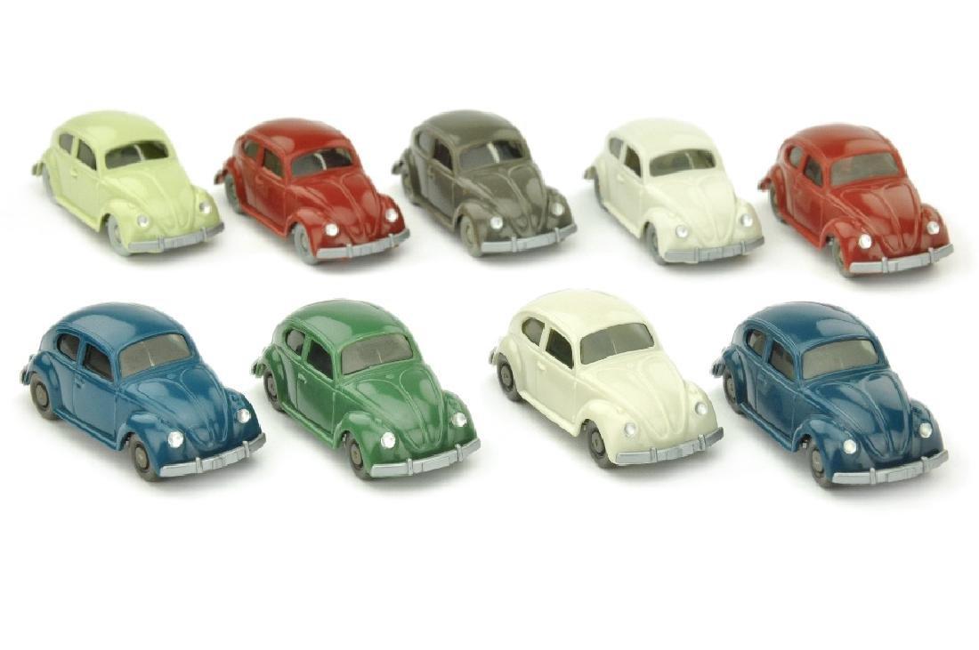 Konvolut 9 VW Kaefer (Typ 5, mit Blinkern)