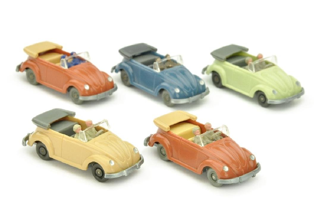 Konvolut 5 VW Kaefer Cabrios (Typ 2)