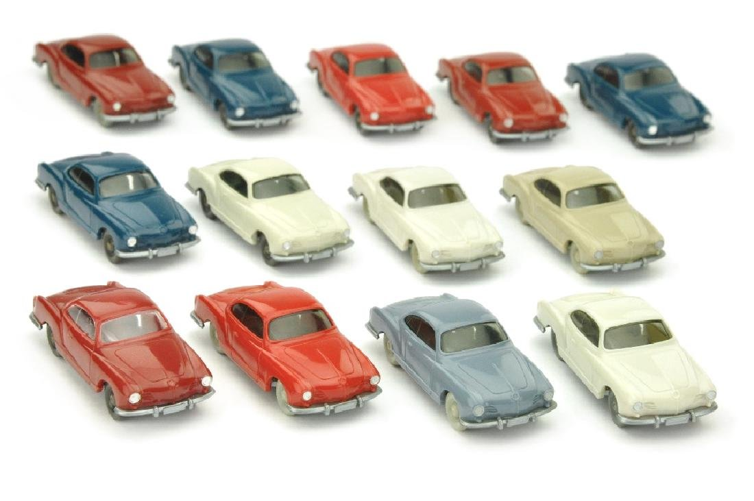 Konvolut 13 VW Karmann Ghias der 60er/70er J.
