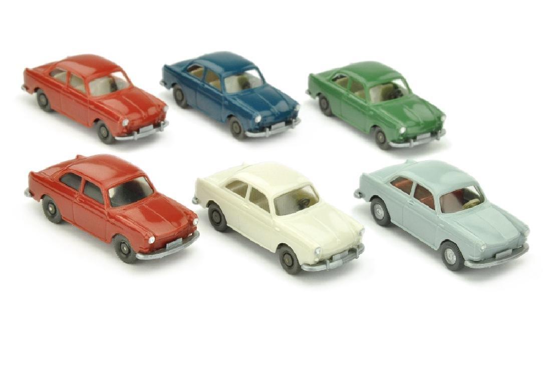 Konvolut 6 VW 1600 Stufe der 60er/70er Jahre