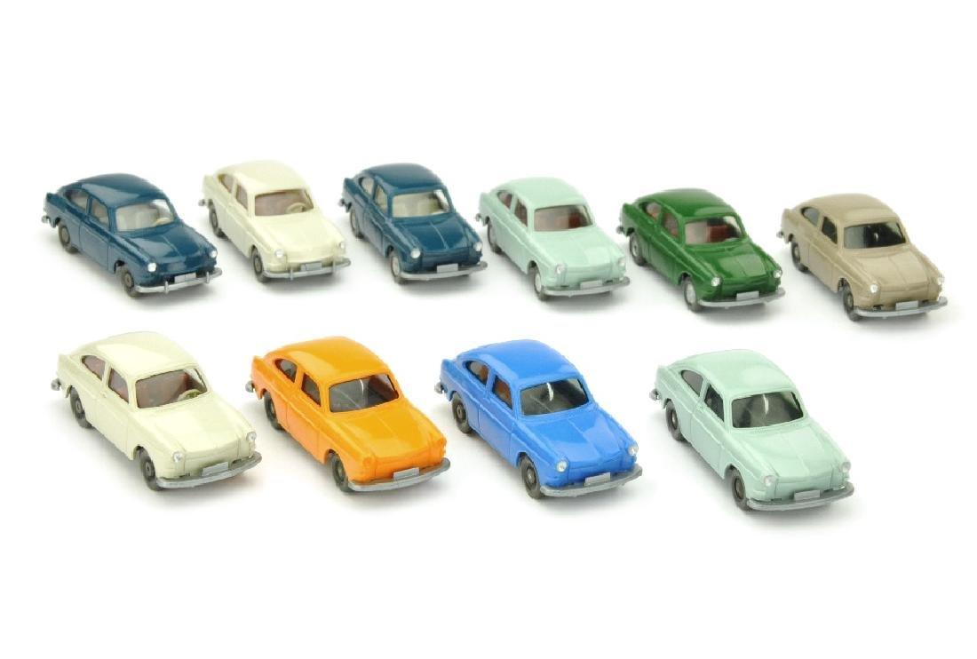 Konvolut 10 VW 1600 Fliessheck der 60er/70er J.