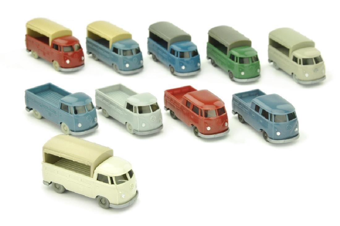 Konvolut 10 VW T1 Pritschen der 60er Jahre