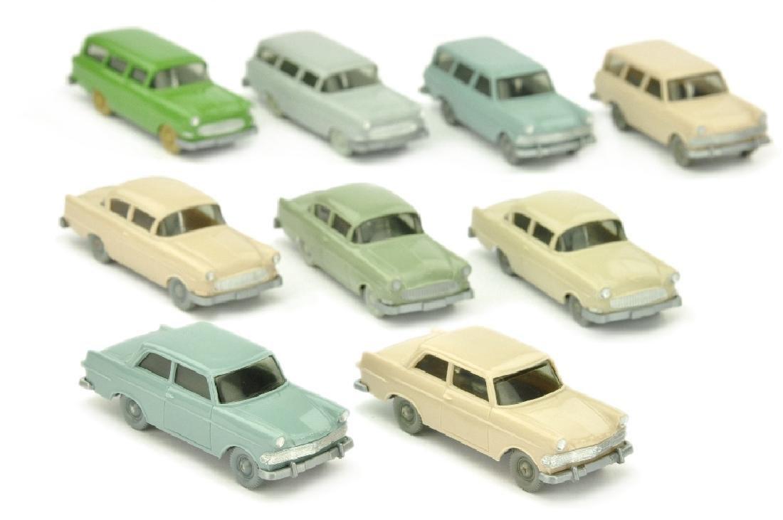 Konvolut 9 Opel-PKW der 60er Jahre