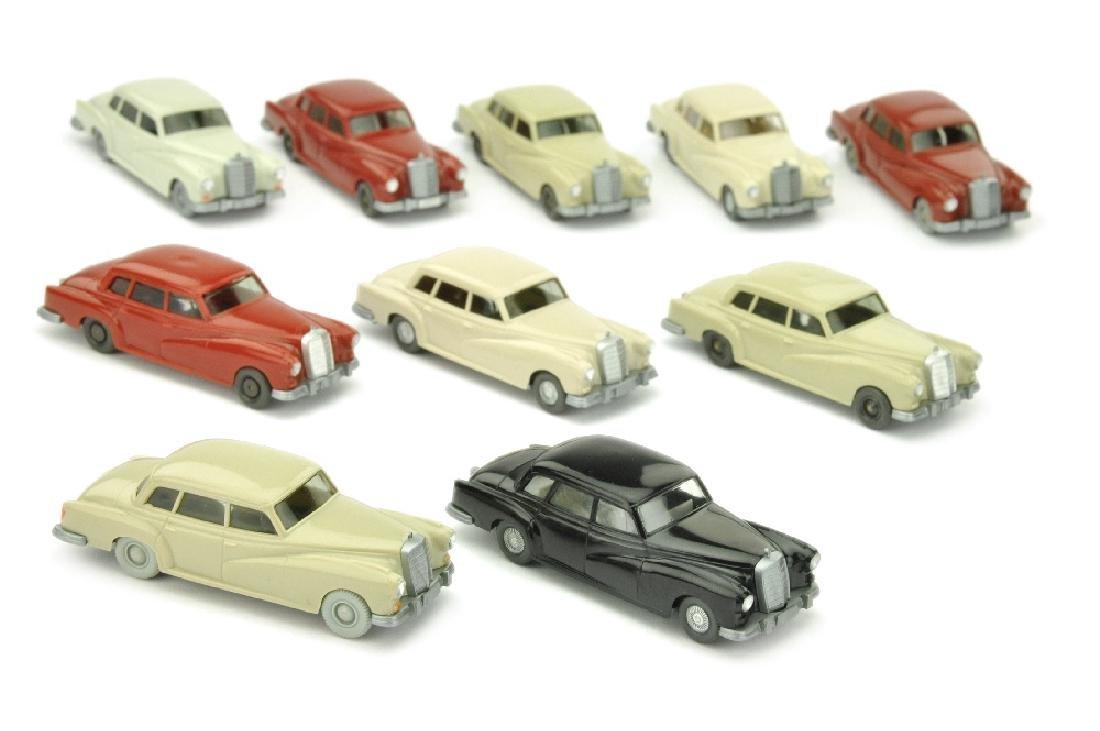 Konvolut 10 Mercedes 300 der 60er/70er Jahre