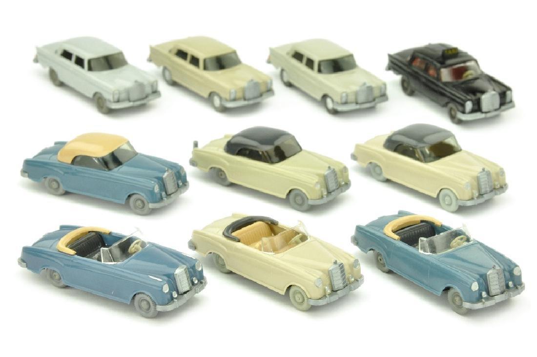 Konvolut 10 Mercedes-PKW der 60er Jahre