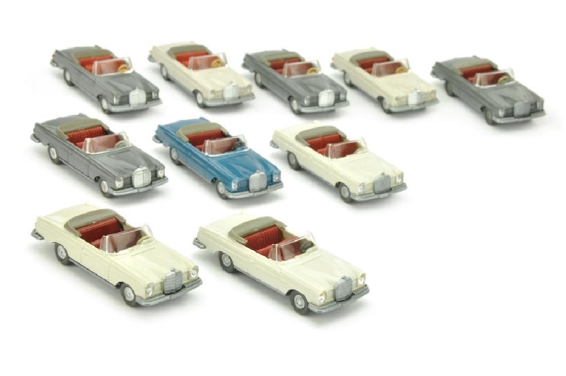 Konvolut 10 MB 280 SE Cabrios der 60er/70er Jahre