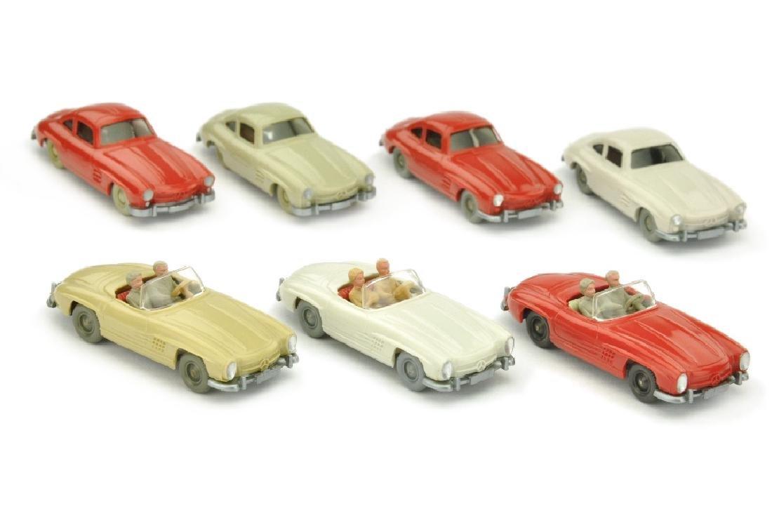 Konvolut 7 Mercedes 300 SL der 60er Jahre