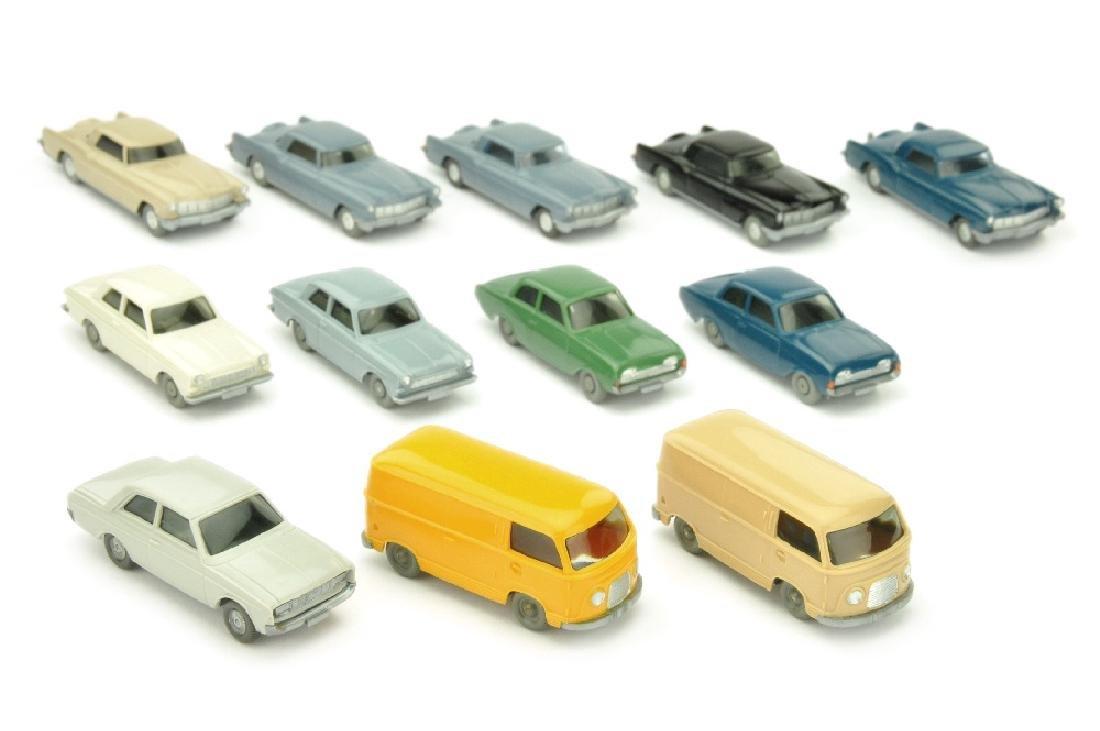 Konvolut 12 Ford-PKW der 60er Jahre