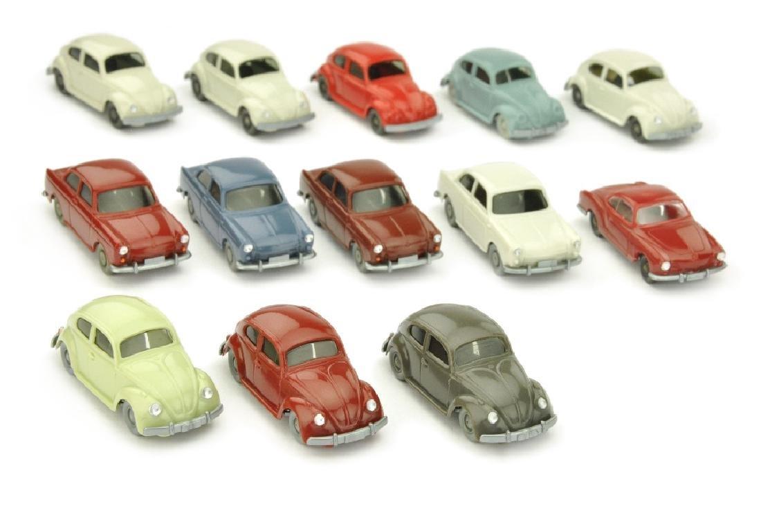Konvolut 13 VW-PKW der 60er/70er Jahre