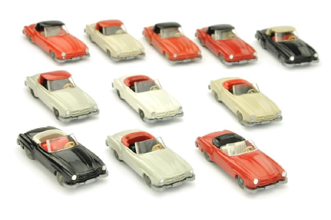 Konvolut 11 Mercedes 190 SL Cabrios/Coupes