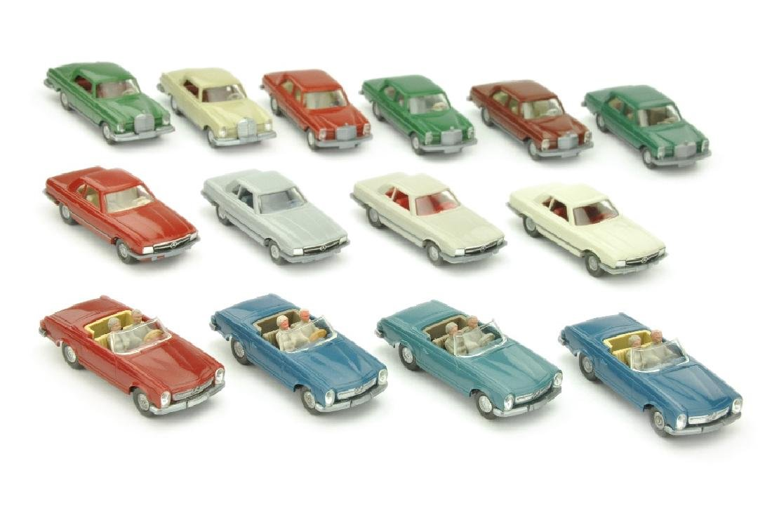 Konvolut 14 Mercedes-PKW der 70er Jahre