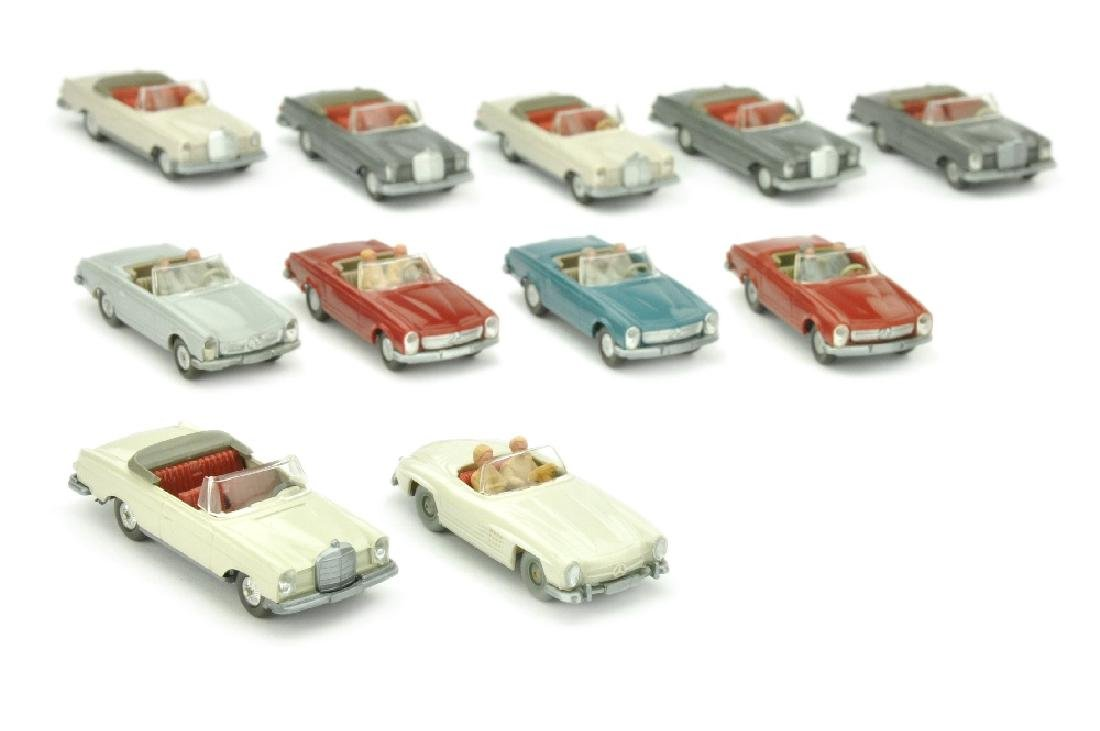 Konvolut 11 Mercedes-Cabrios der 60er/70er Jahre