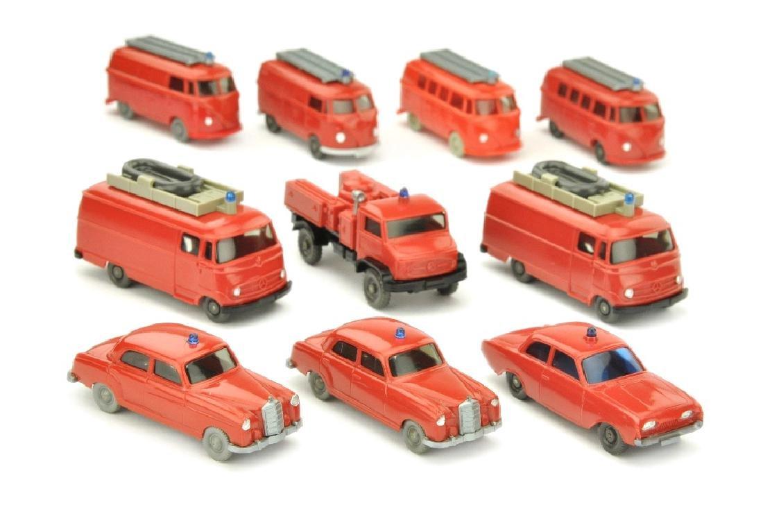 Konvolut 10 Feuerwehr-PKW der 60er Jahre