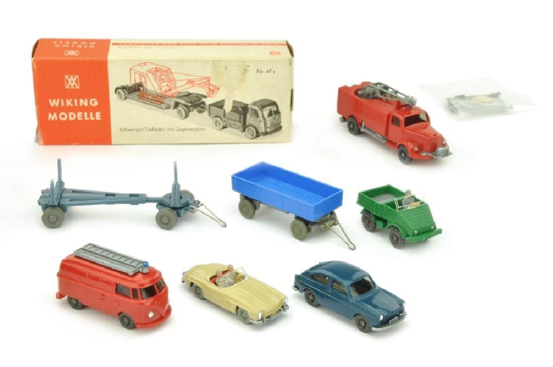 Konvolut 7+3 Modelle der 60er/70er Jahre
