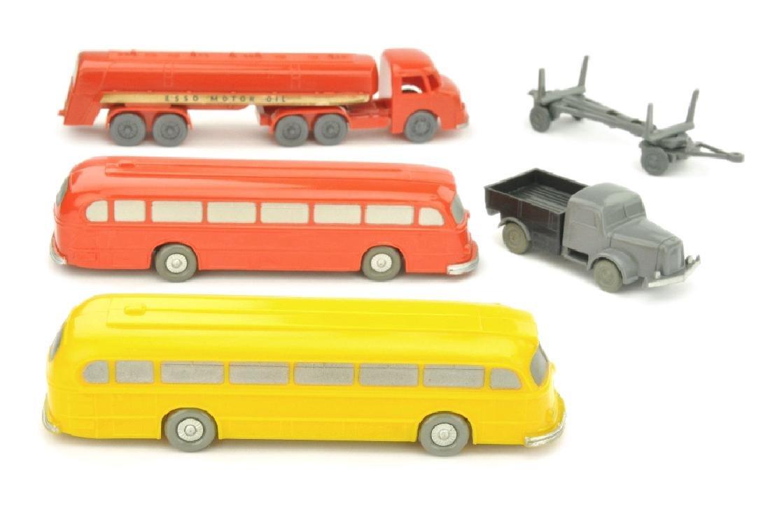Konvolut 5 unverglaste Modelle