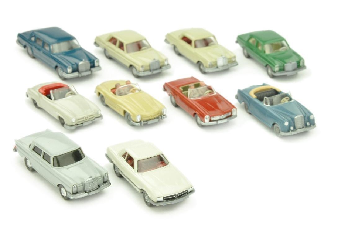Konvolut 10 Mercedes-PKW der 60er/70er Jahre
