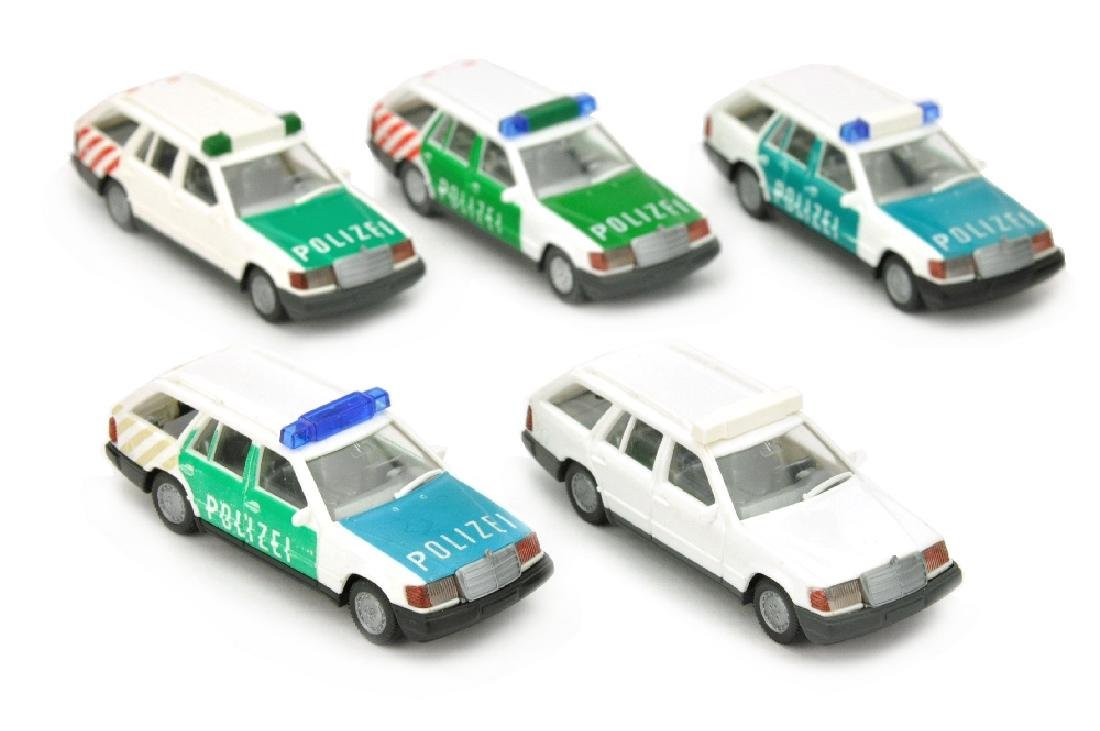 Andruckserie zum MB 230 TE Autobahnpolizei