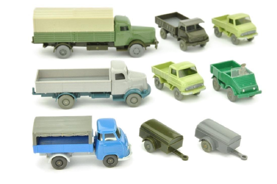 Konvolut 9 Modelle der 60er Jahre